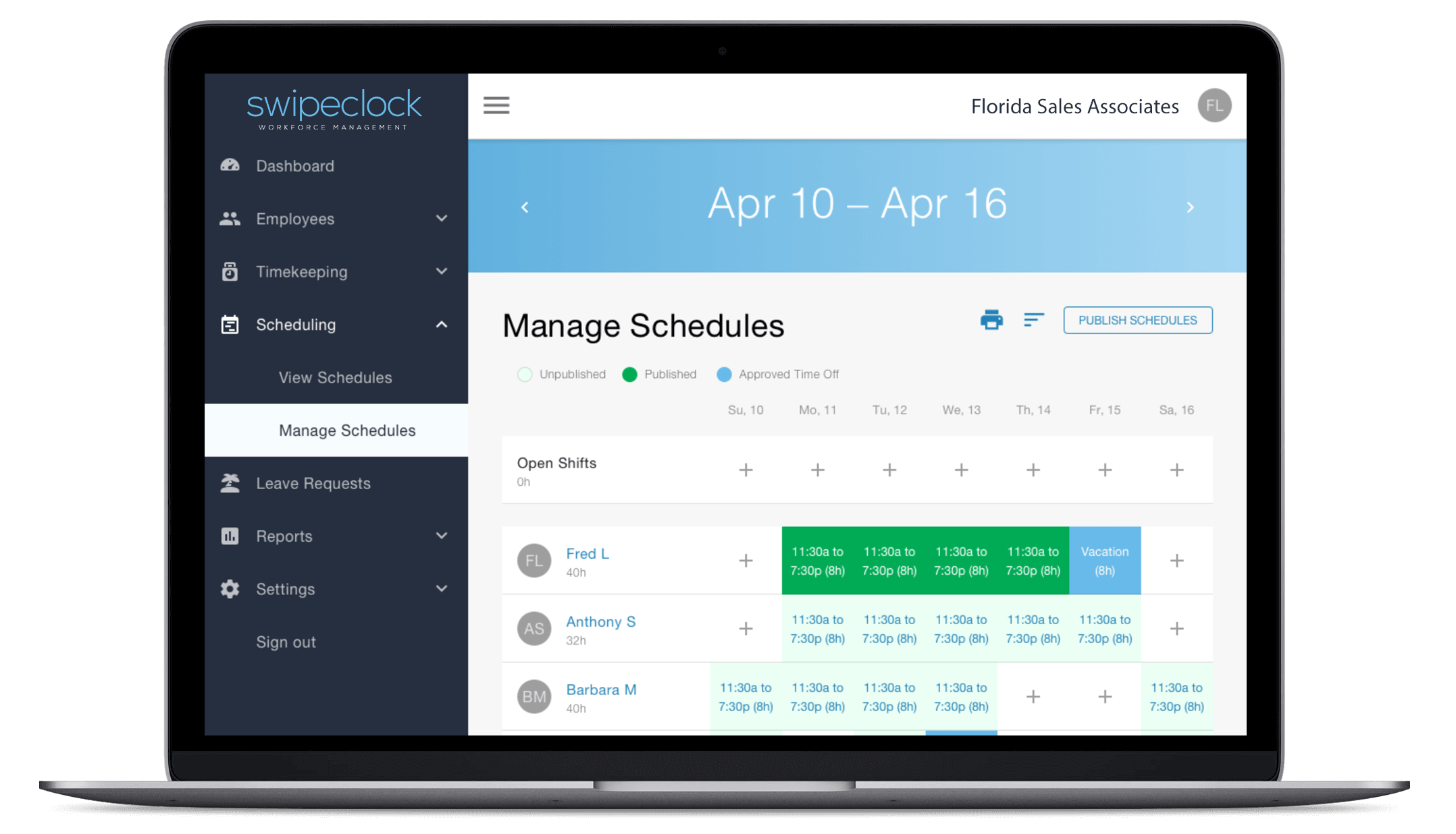 Employee Scheduling with TimeSimplicity